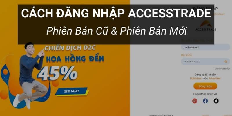 accesstrade đăng nhập